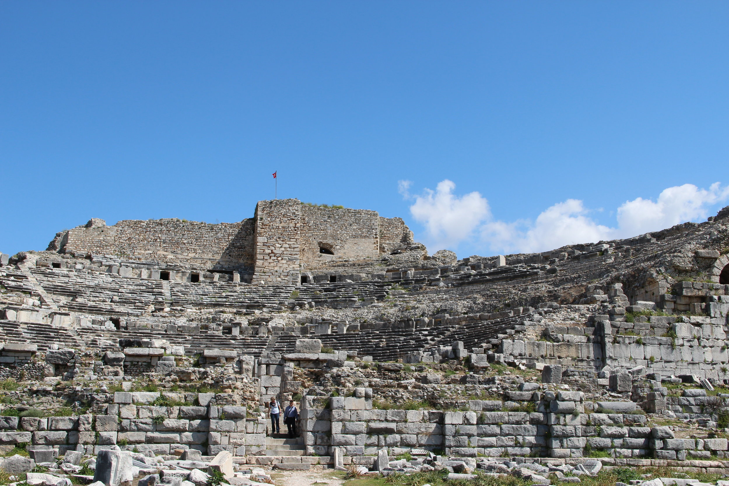The ruins of Miletus. A glorious 4,000 year old city, conquered by Alexander in 334 BC, turned into a bishopric with a castle by the Byzantine's in the 6th century, used by the Ottomans in the 14th century but finally abandoned when the harbour silted up.