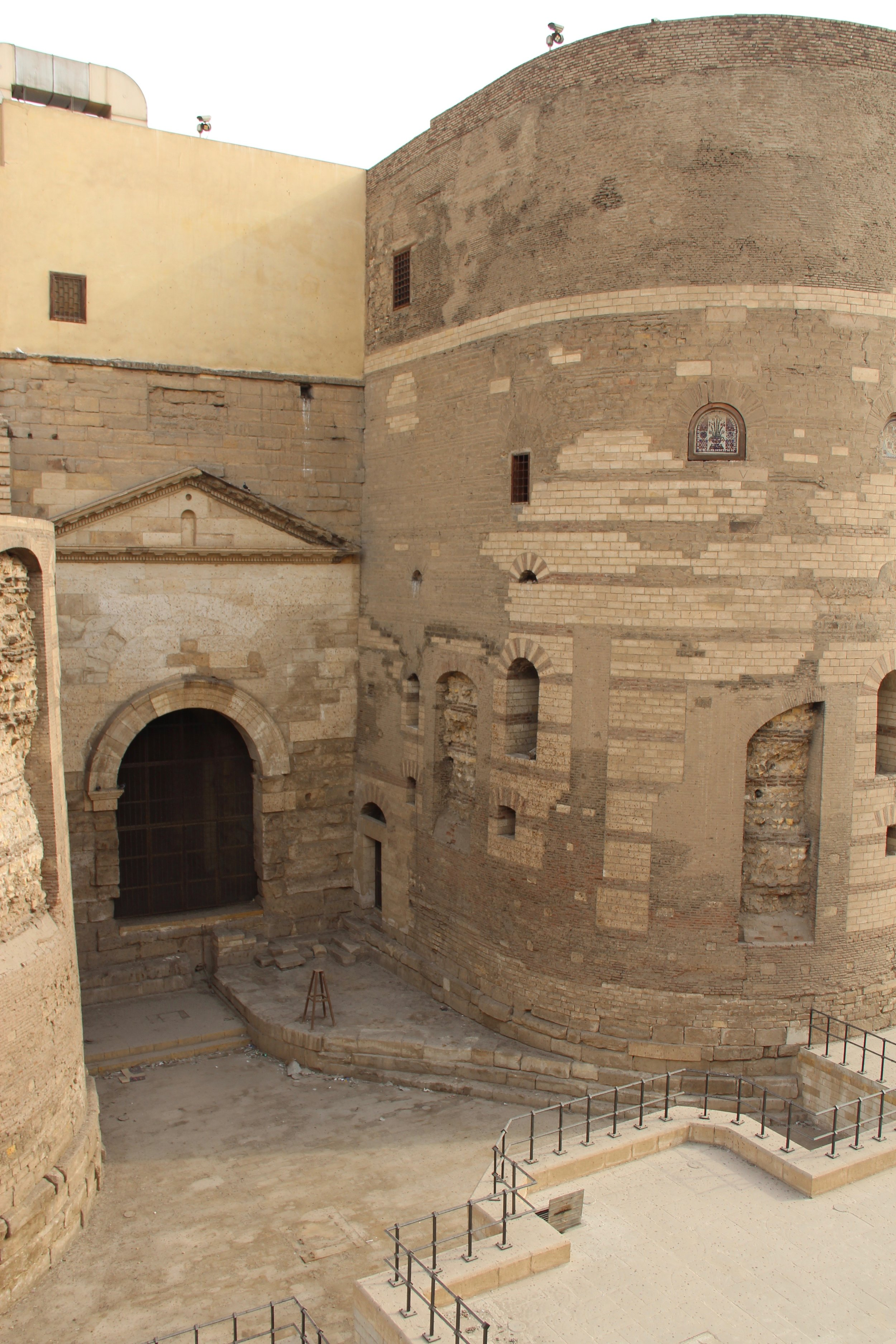 Outside the Hanging Church, built into a Roman fort