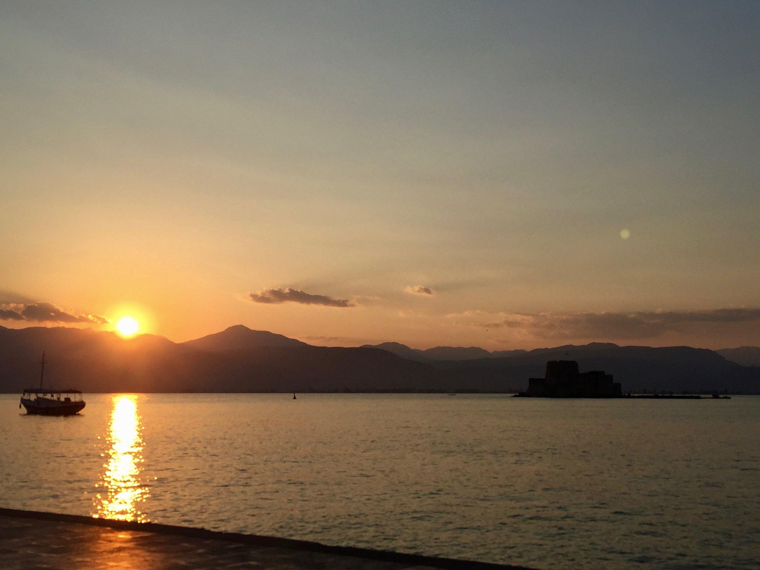 Nafplia at sunset
