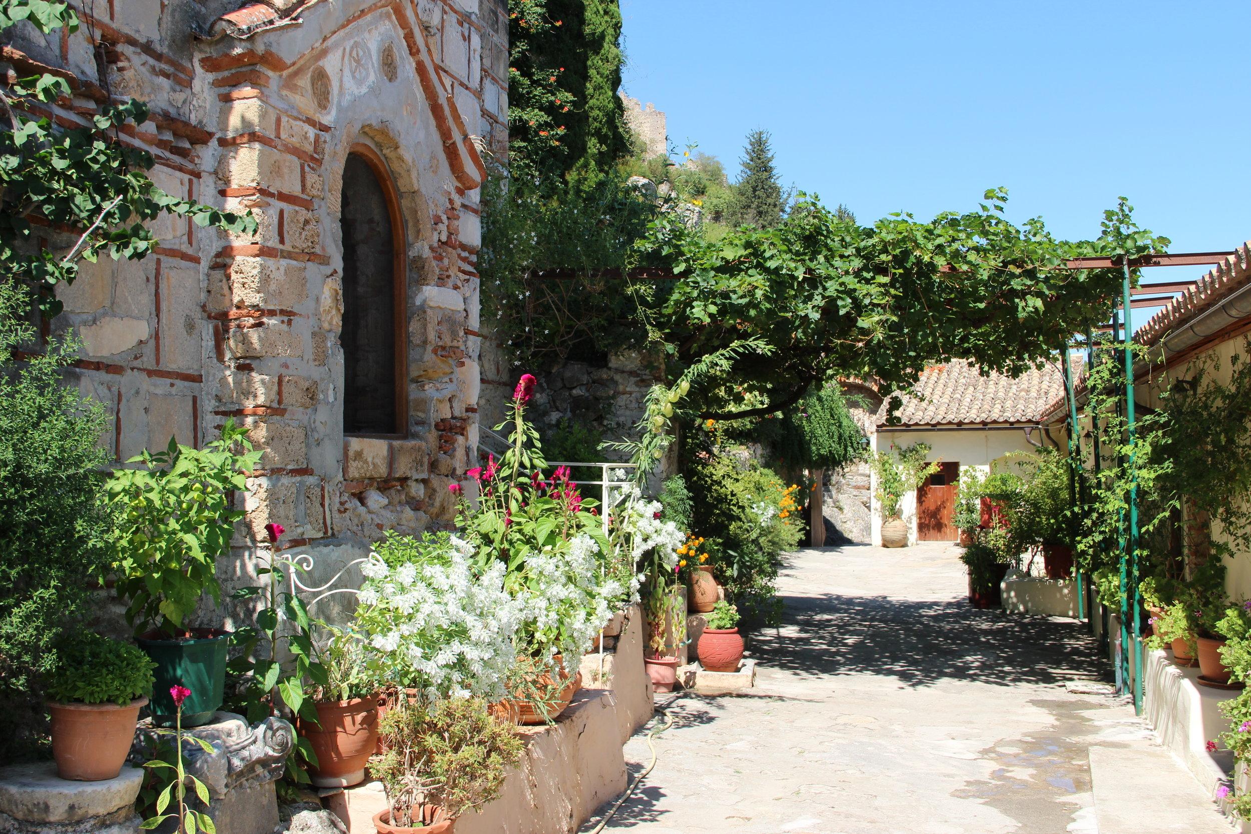Within the Peribletos monastery