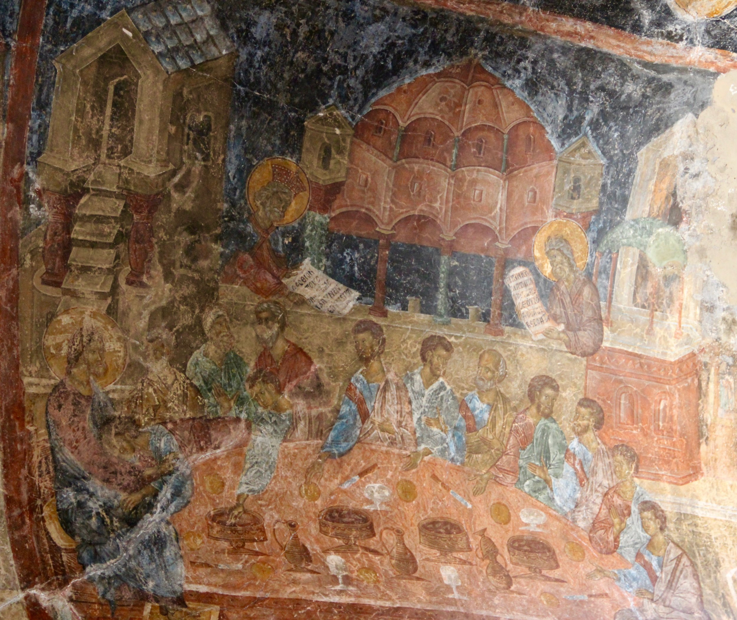 Frescoes on every surface - Jerusalem perhaps?