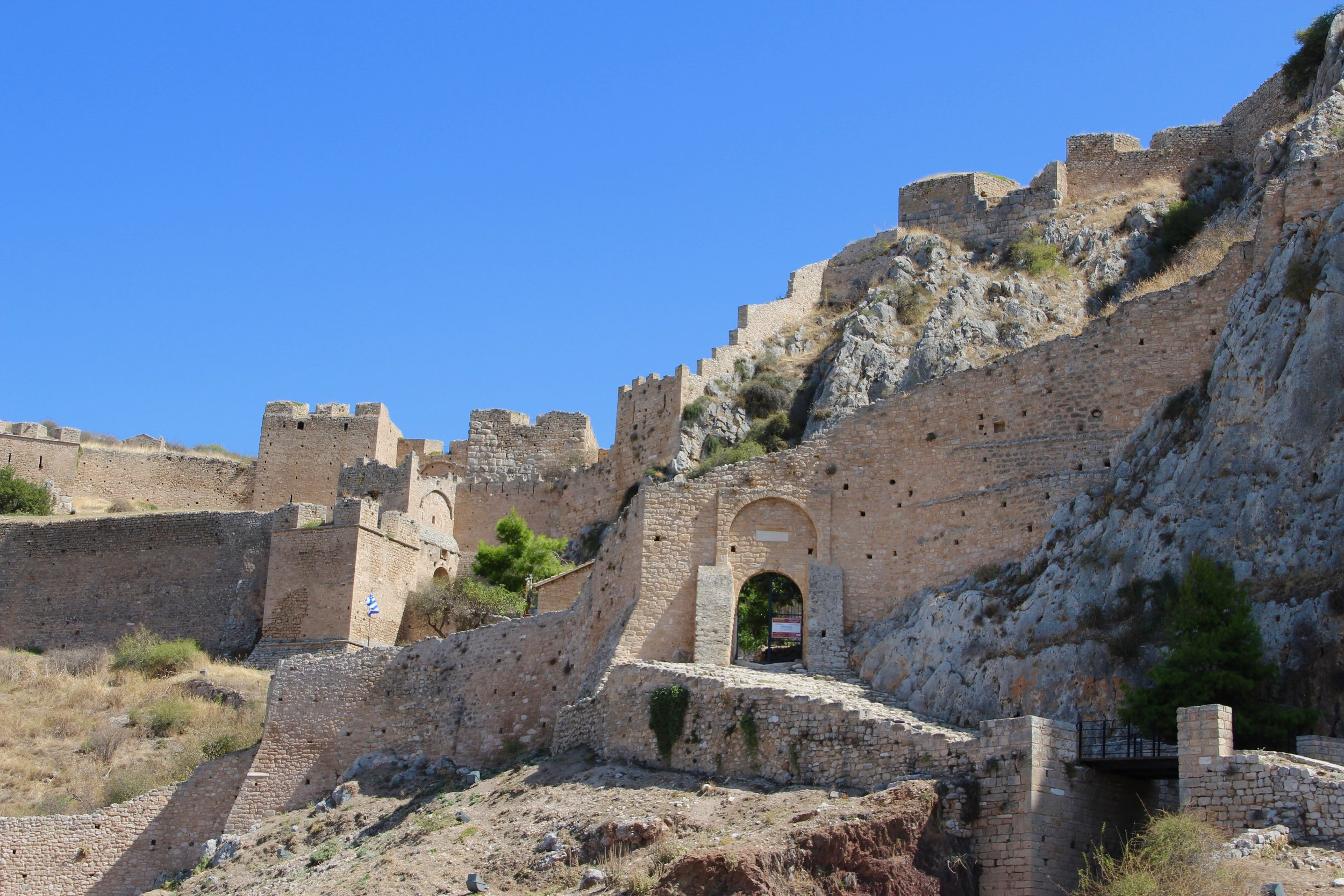 Acrocorinth stretches the mind with its size and history