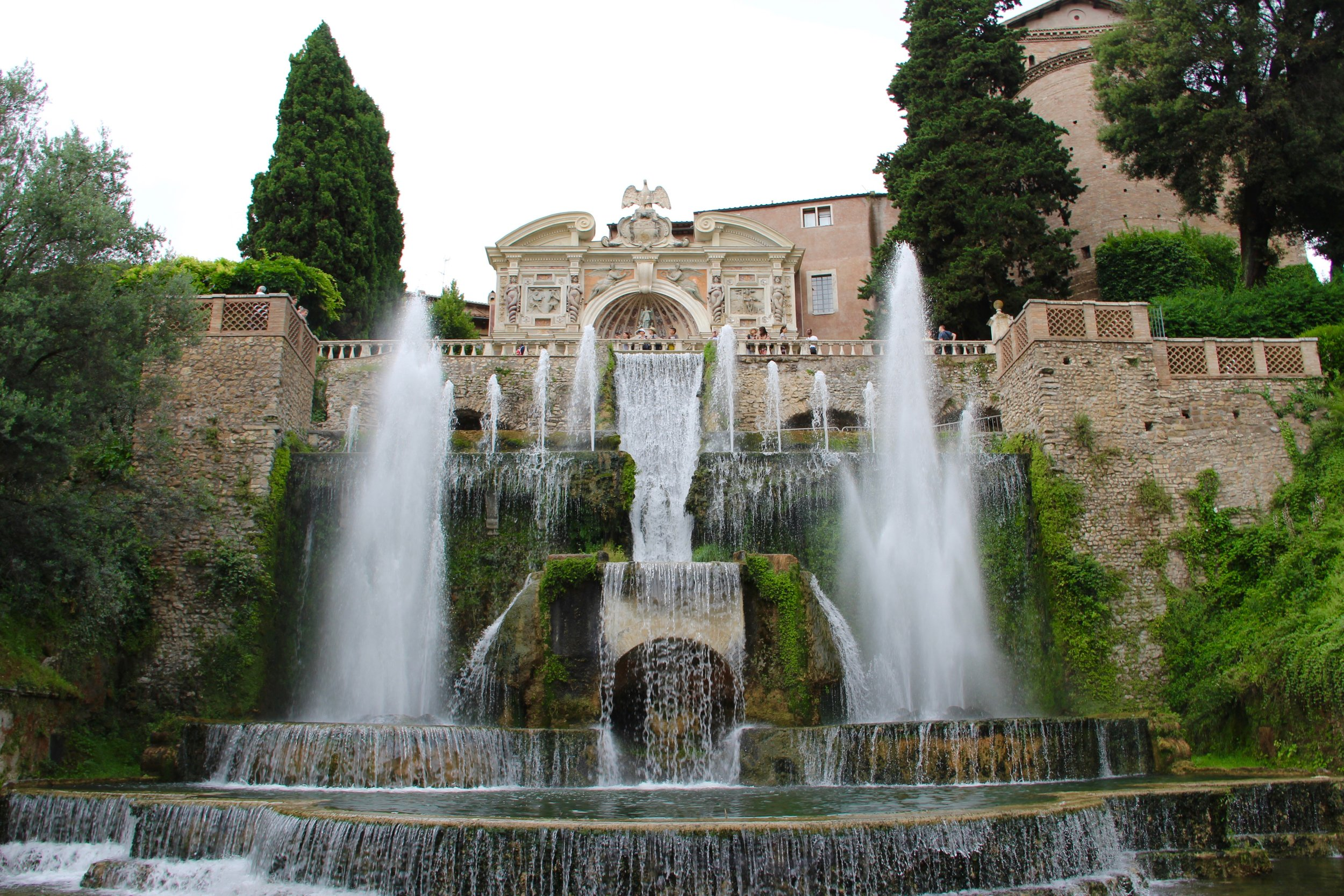One of the hundreds of fountains at Villa D'Este