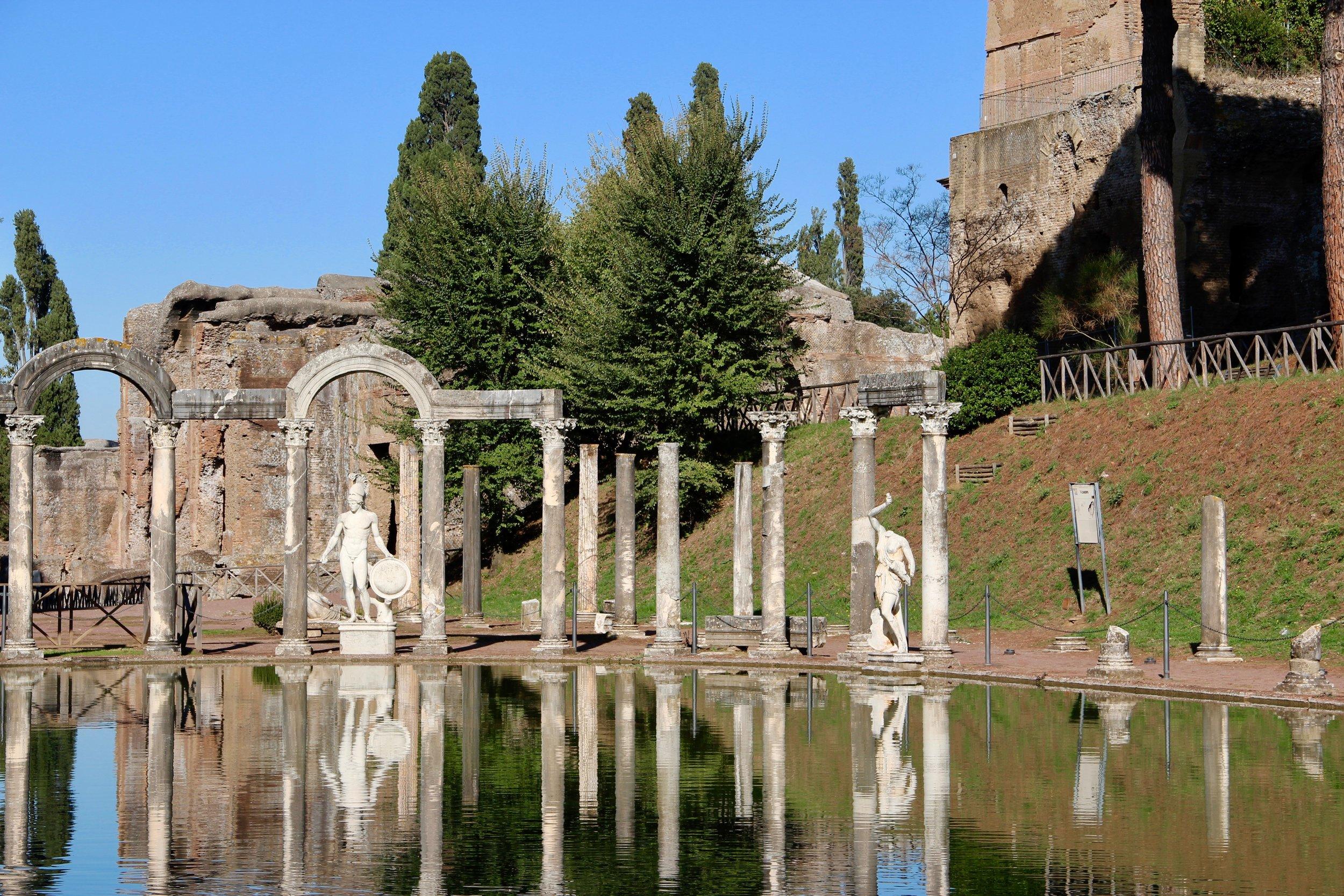 The pool at Hadrian's Villa