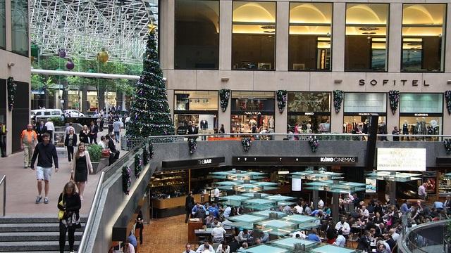 A shopping mall in Melbourne, Australia (image: Mathieu Cartoixa).