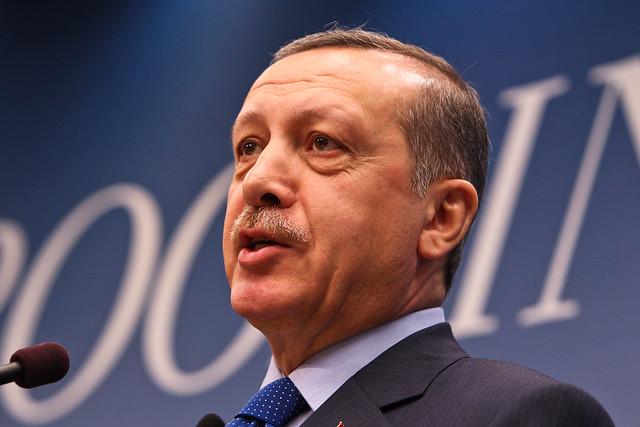 Turkish President Erdogan, photographed by Paul Morigi in 2013.