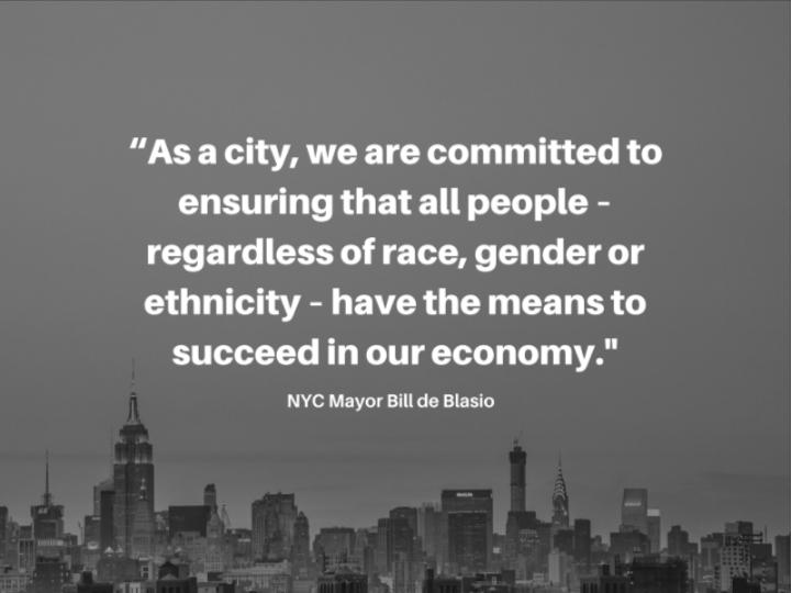 NYC Mayor Bill de Blasio on Economic Success