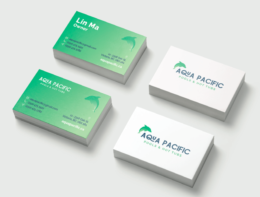Aqua Pacific business cards