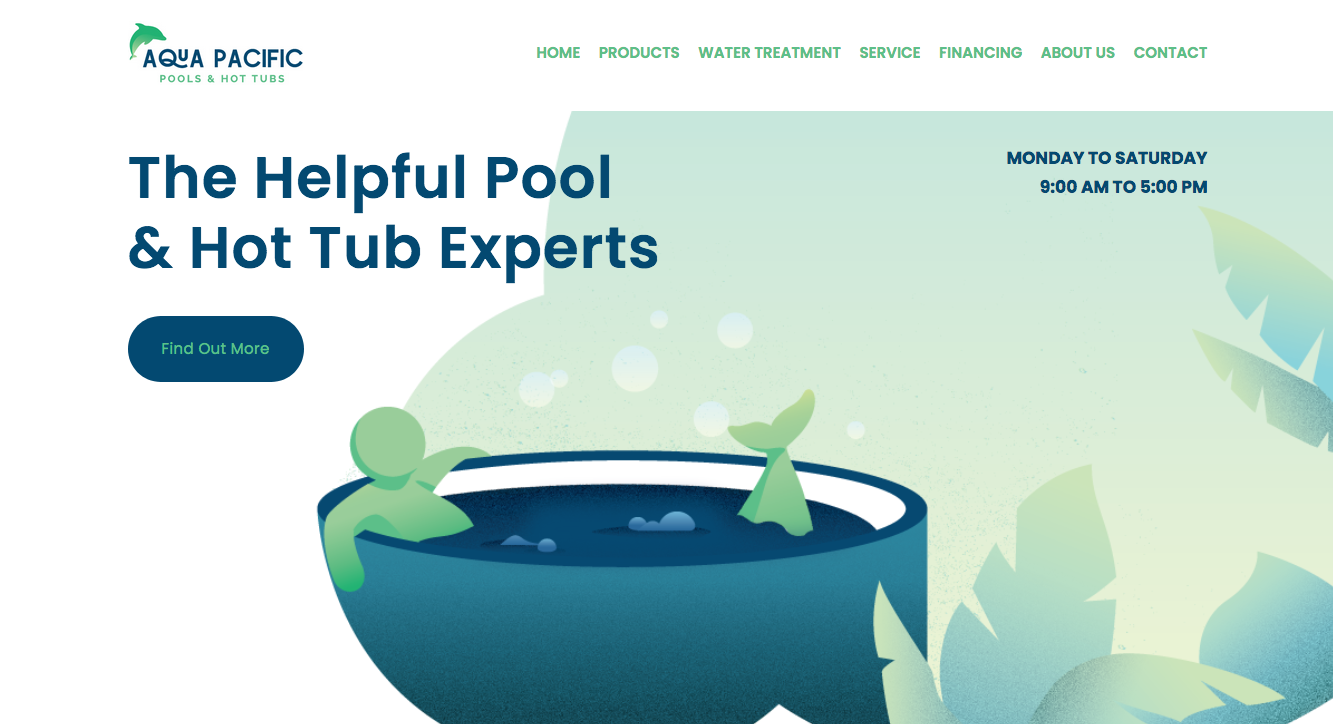 Aqua Pacific new website