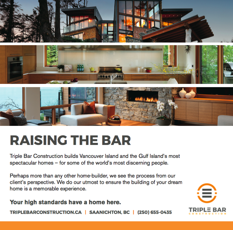First ad for  Triple Bar Construction  fresh out of a rebrand