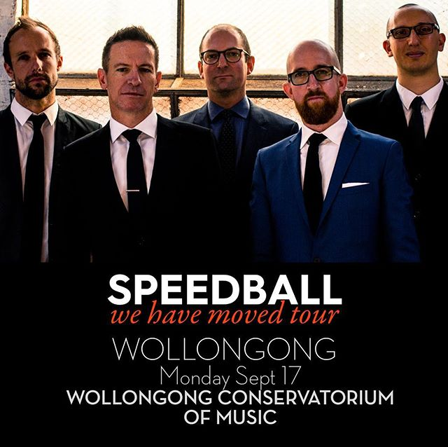 Here we go, folks! Day One is here. Wollongong, we hope to see tonight at the Wollongong Conservatorium of Music at 7pm. Tickets available online (link in bio) or at the door. #wollongongjazz #speedballtheband #wollongong #wehavemovedtour Photo: @hayleymiro