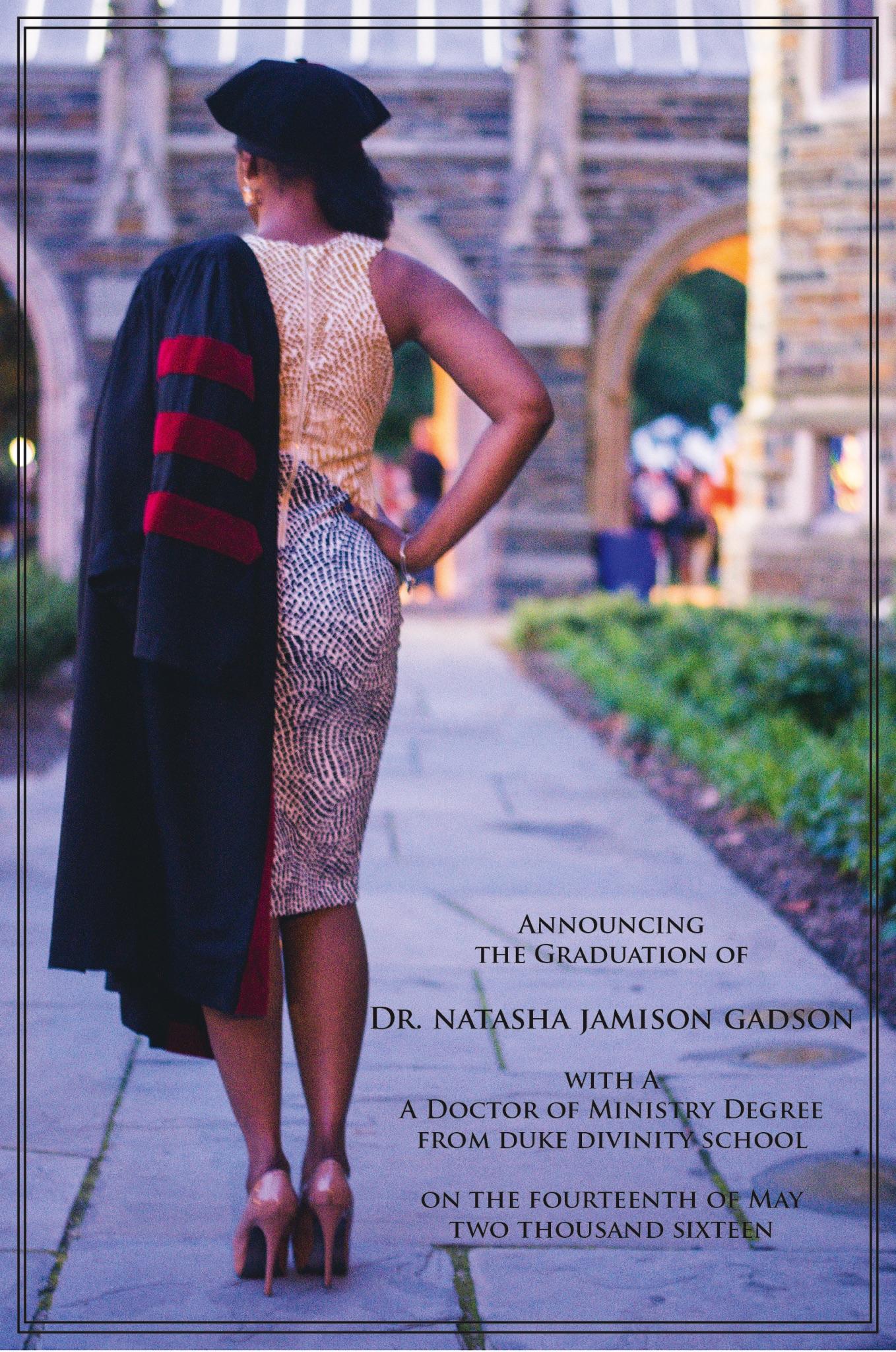 proudly introducing...Dr. Natasha Jamison Gadson -