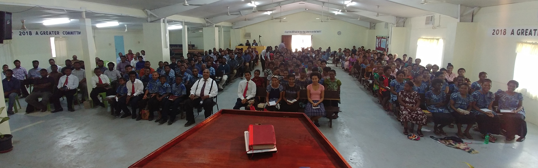 Friend Day crowd at 6 Mile Bible Baptist Church in Port Moresby, PNG