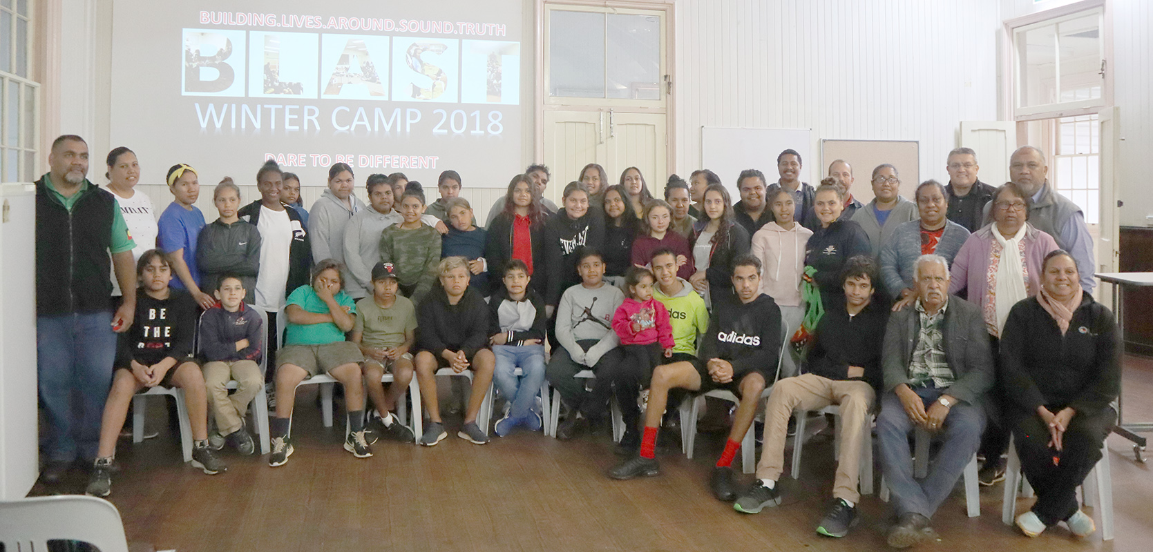 Campers, staff and speakers for B.L.A.S.T. Winter Camp 2018