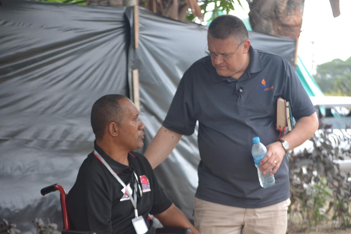 Pastor Tau Abary and Dr. Doug Brandenburg