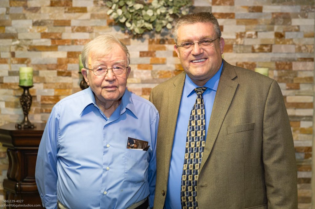 Dr. Brandenburg with Howard Cooper. Brother Cooper was the Youth Director when I was a teenager. He is 90 years old and still servicing.
