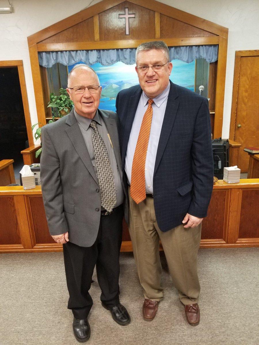 Pastor Chester Miller and Dr. Brandenburg