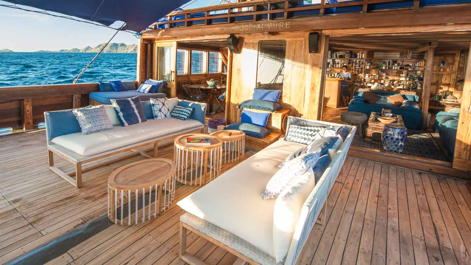 Ocean Pure deck living aboard