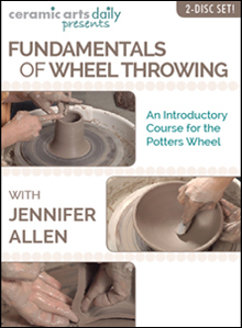 Fundamentals of Wheel Throwing - This DVD will help get you started on the potter's wheel. It offers basic instruction and helpful tips to make mastering the wheel less of a mystery.