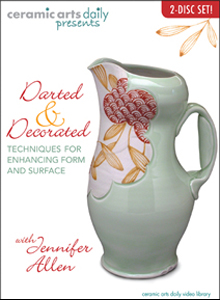 Darted and Decorated: Techniques for Enhancing Form and Surface - This DVD showcases a step-by-step approach to creating a handful of pottery forms. It starts with construction techniques both on and off the wheel and ends with glaze decorating techniques.