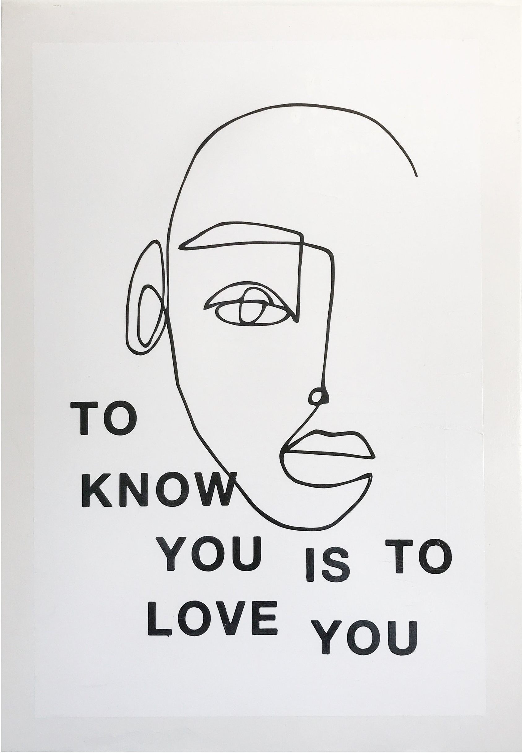 know YOU / LOVE YOU, 2018  acrylic x paper on wood  28x40 inches   — CONTACT FOR PRICE