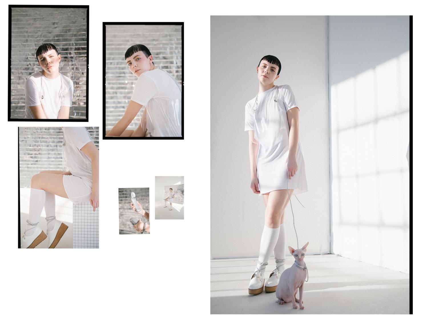 """His series """"Equilibrium"""" with model Olivia Breteau"""