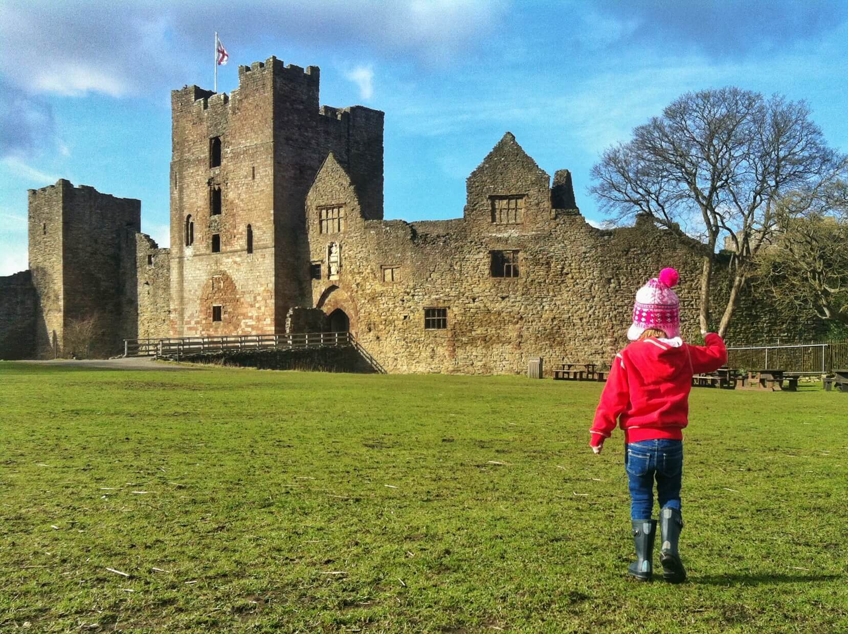 Caroline at Ludlow Castle.JPG