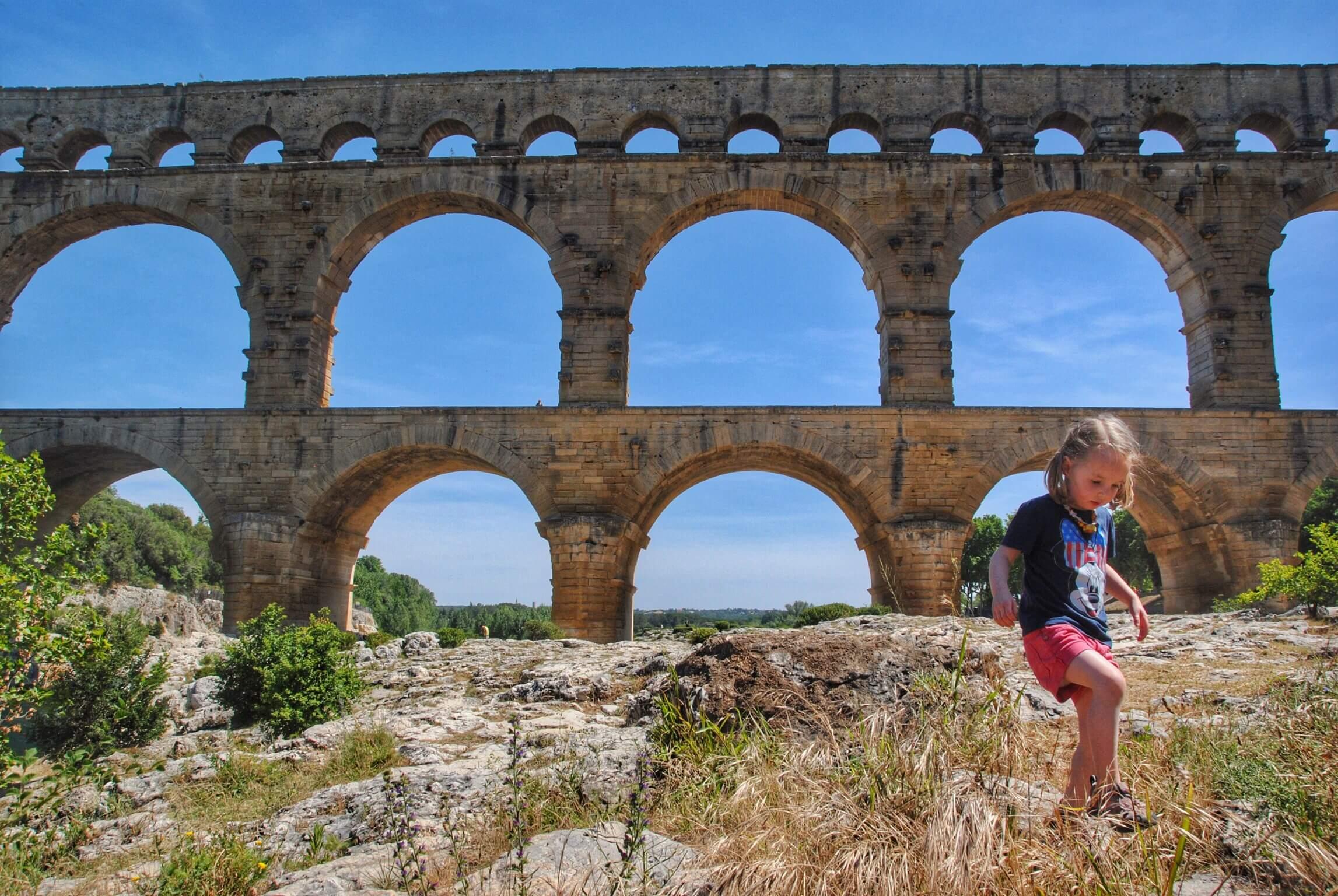 Caroline at Pont du Gard.JPG