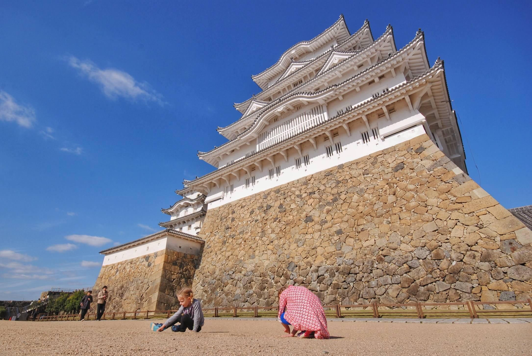 Girls at Himeji Castle.JPG
