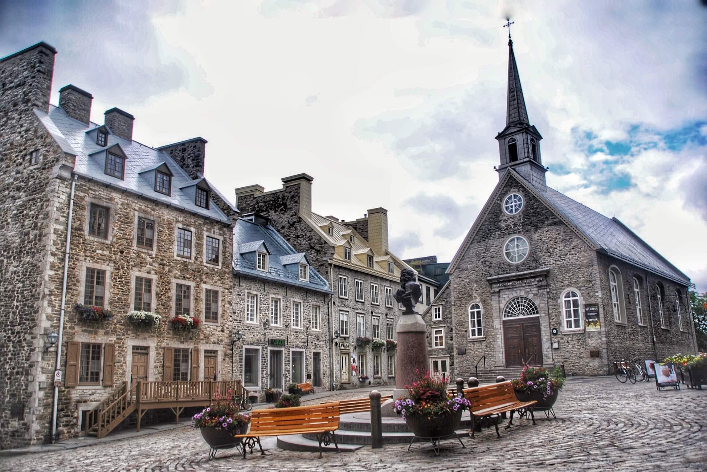 Quebec City Place Royale Church