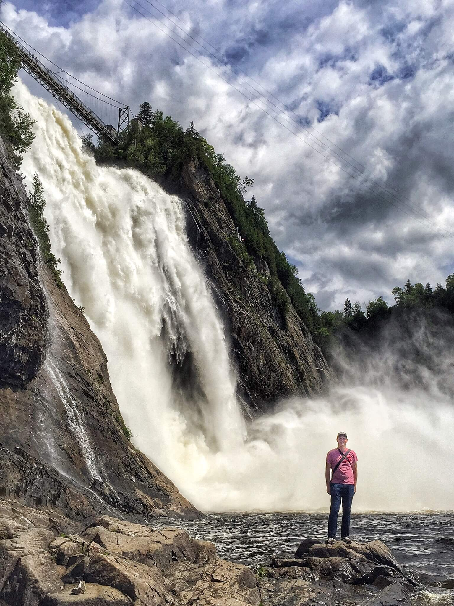 In Front of Montmorency Falls