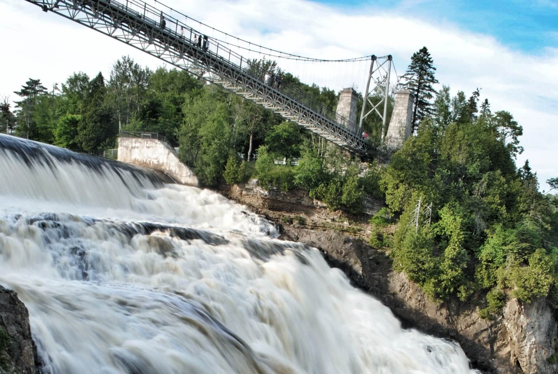 Bridge over Montmorency Falls