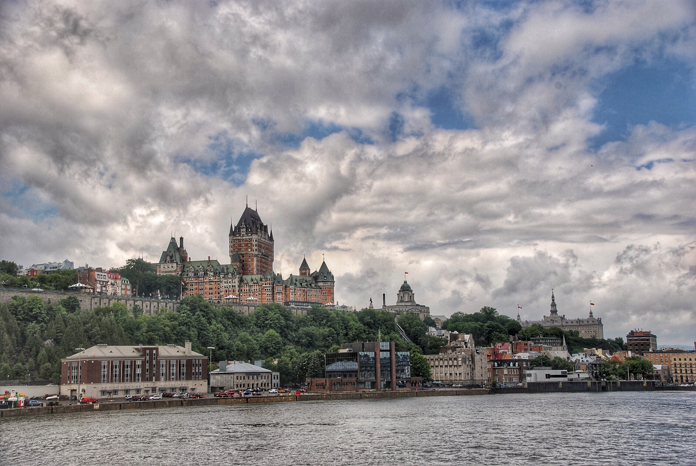quebec city from the ferry.JPG