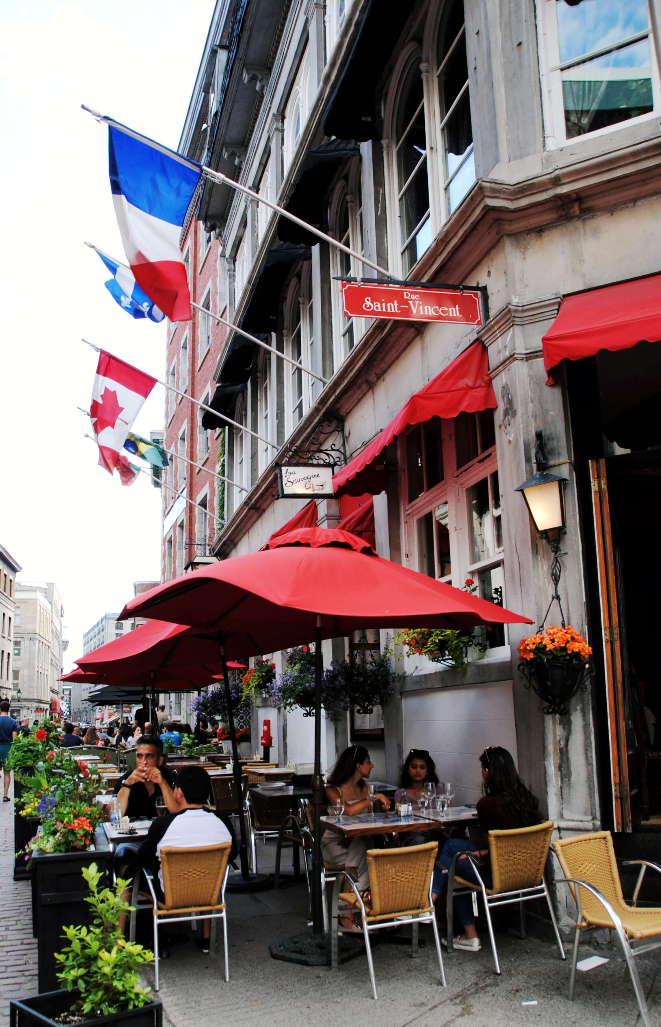 Rue Saint-Vincent Day in Montreal