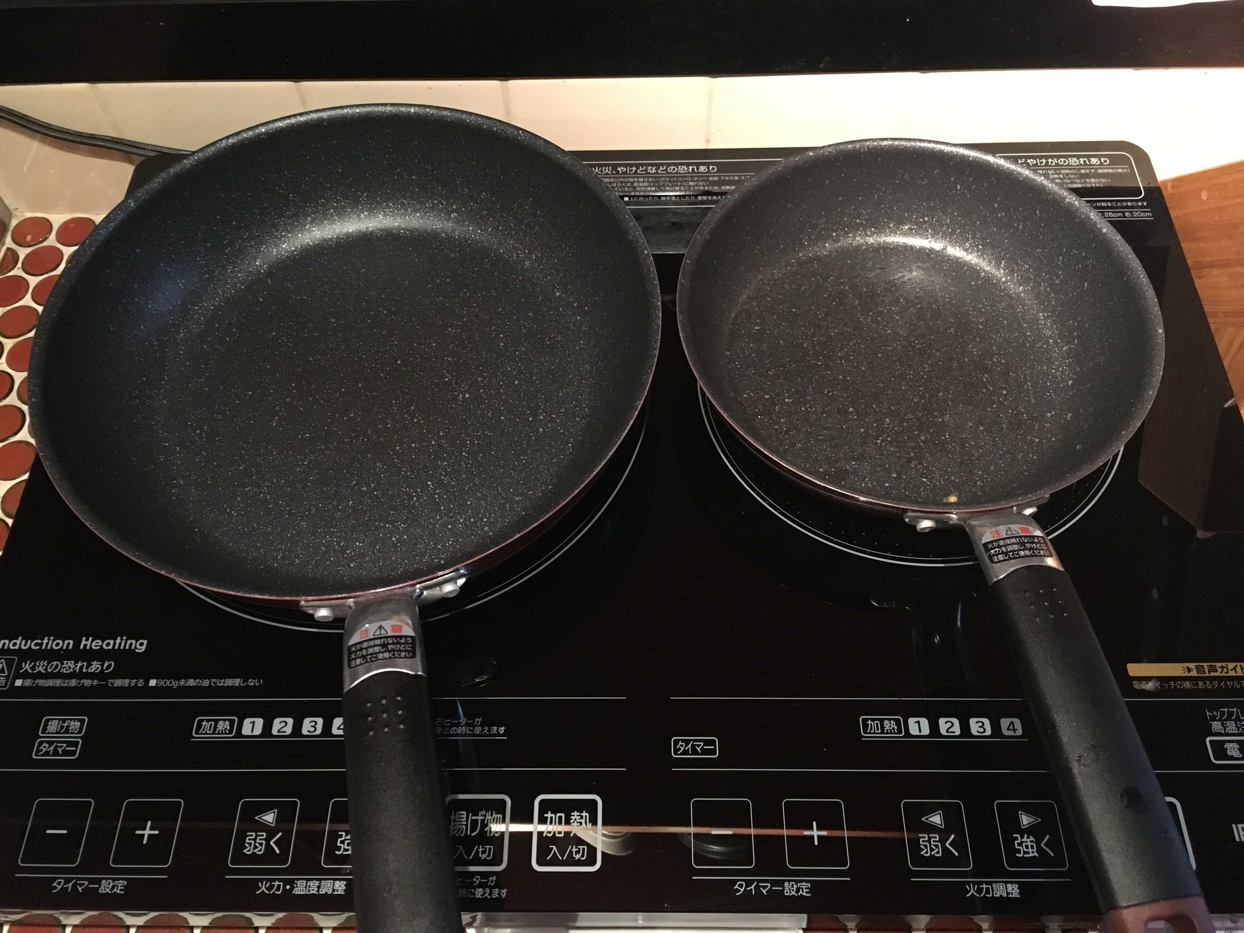 Our stovetop in Kyoto.  It chirped merrily to us in Japanese when we turned it on.