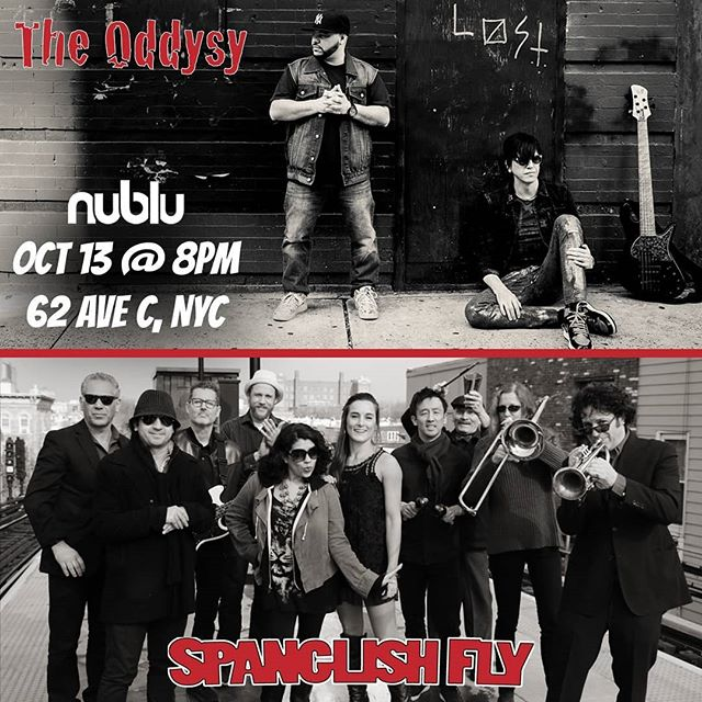 Last-minute gig added, sharing a bill with our friends the Odyssey at @nublu