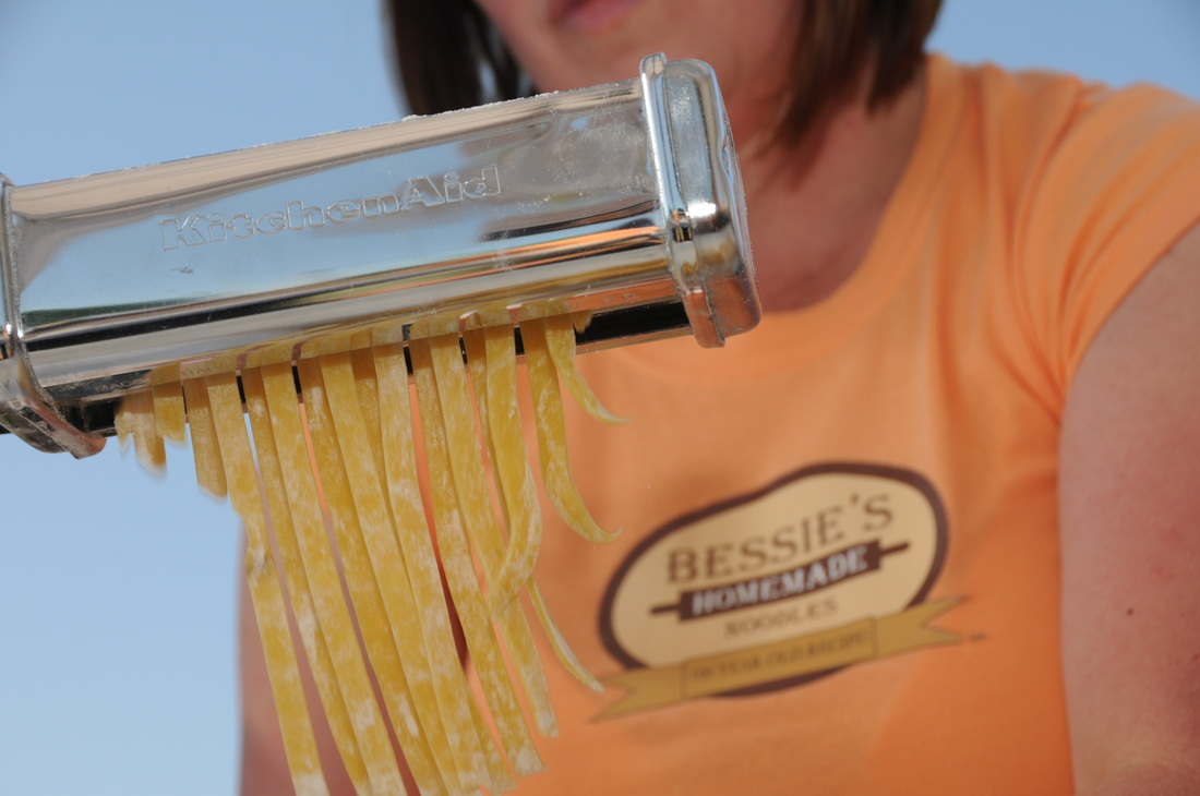 Cutting our Special Noodles!