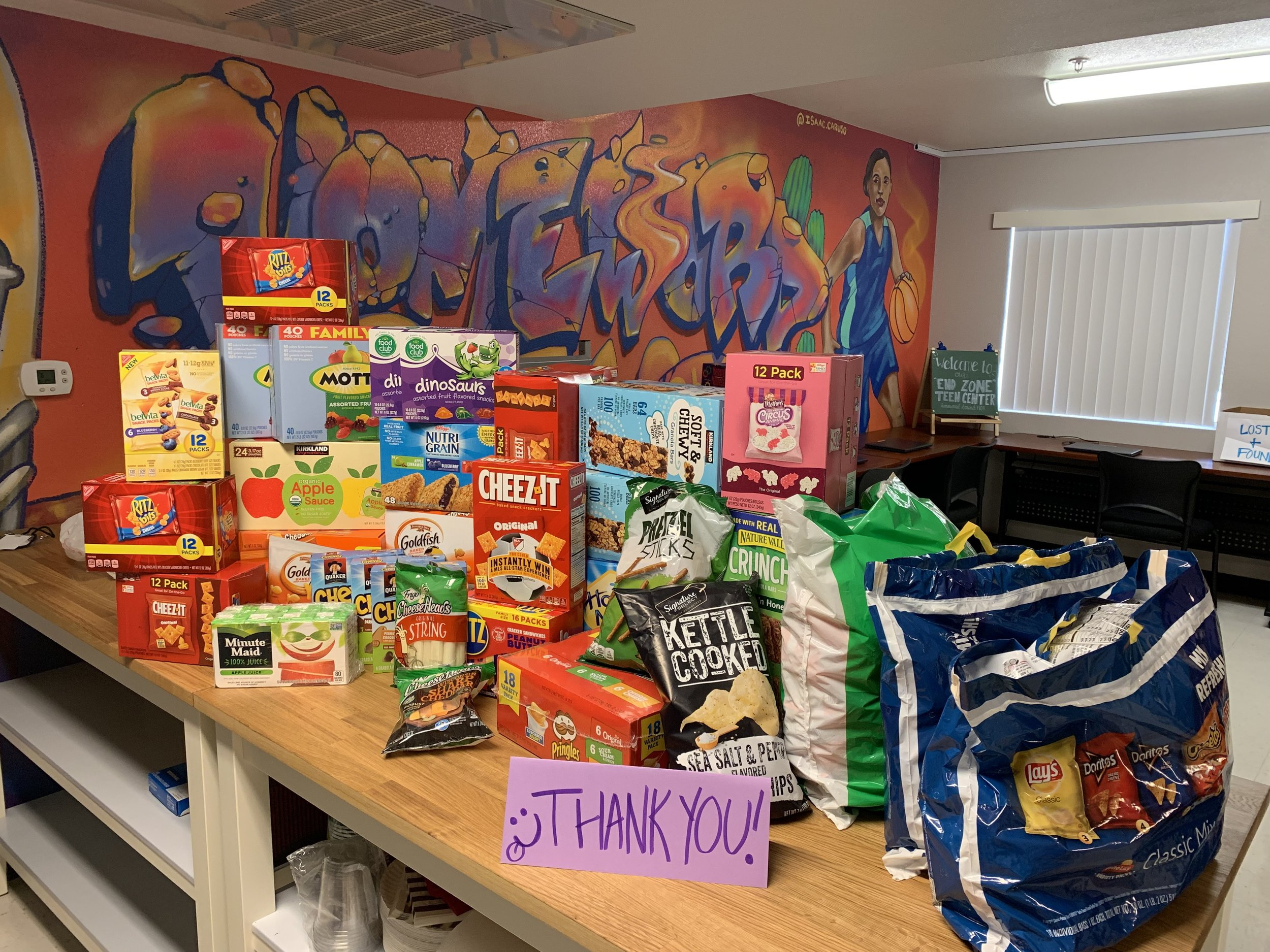 Results of first quarter VCorps food drive from the Russ Lyon Sotheby's International Realty Corporate office.