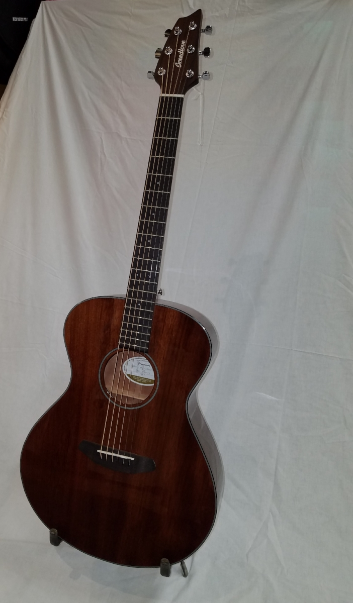 Breedlove Discovery Concert MH Guitar   This all-mahogany guitar has a vibrant tone and a warm finish. It fits well in both intimate settings and larger acoustic gigs.