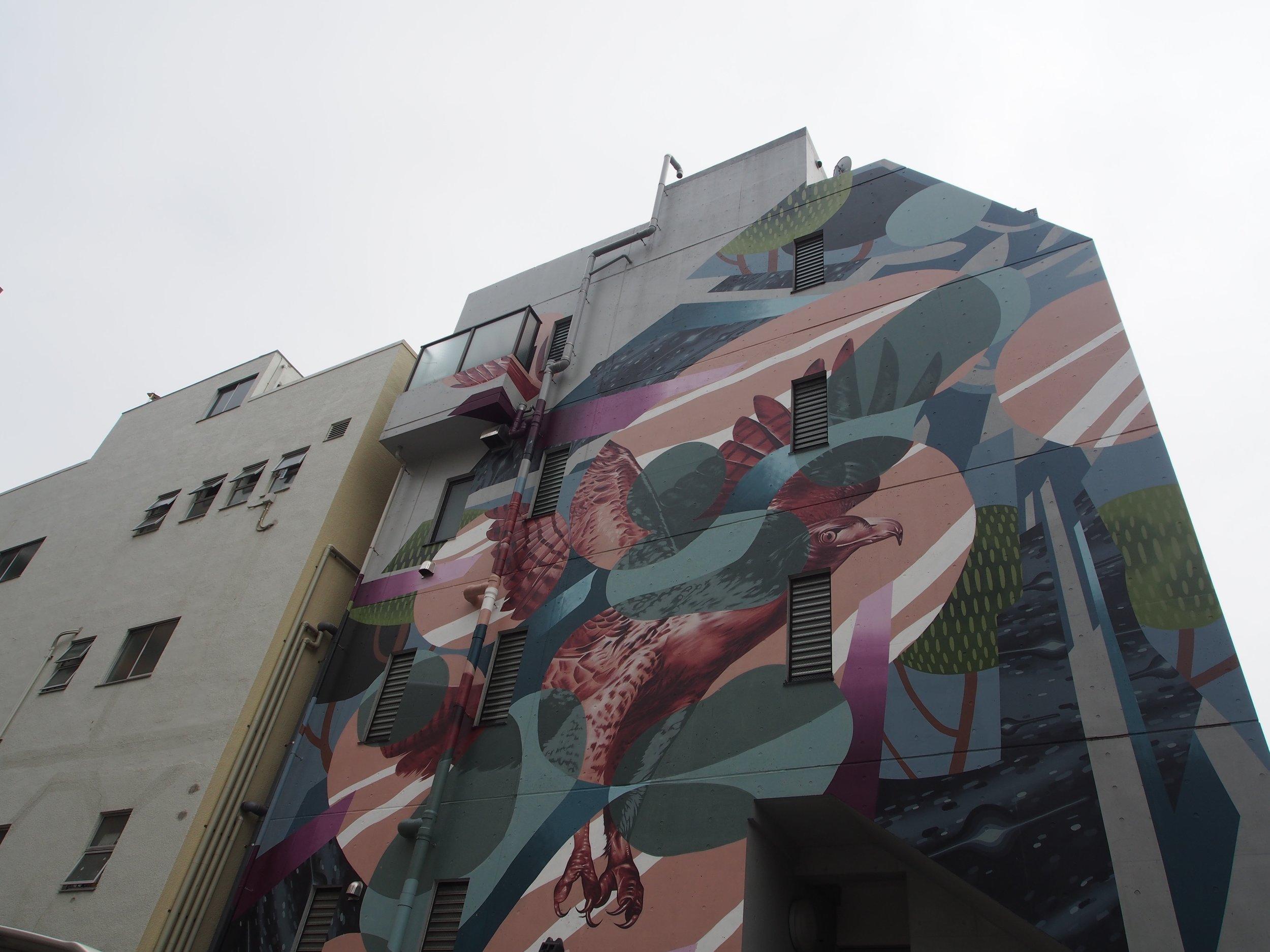 Mural City Project Koenji - Client/Partner: 杉並区中央線あるあるプロジェクトDate: 2016 - NowDescription: 高円寺の街中に壁画を制作し、高円寺を日本初のミューラルシティーにするプロジェクト。Artist: Yohei Takahashi, Tsuyoshi Nigamushi, Whole 9, Yuji Oda, Shogo Iwakiri