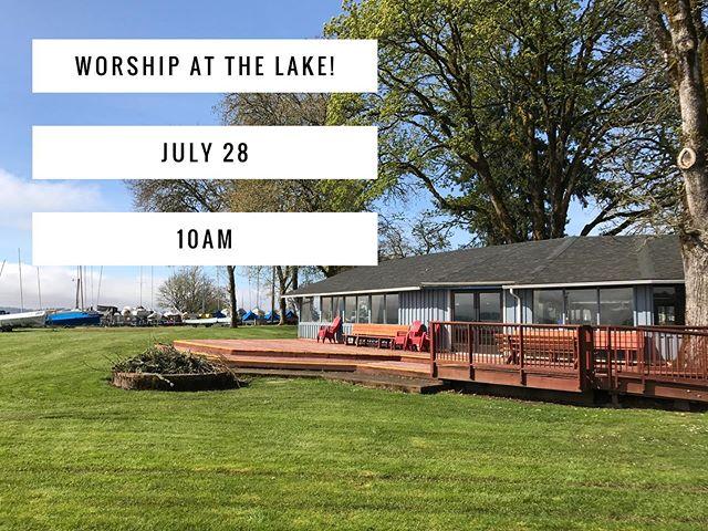 See you #sunday for worship at the lake!! #sundayfunday #eugene #oregon #worship #music #lovelikethis #rethinkchurch