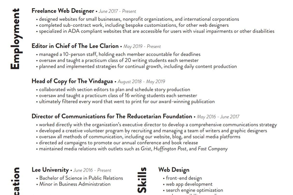 Resume - Updated June 2019