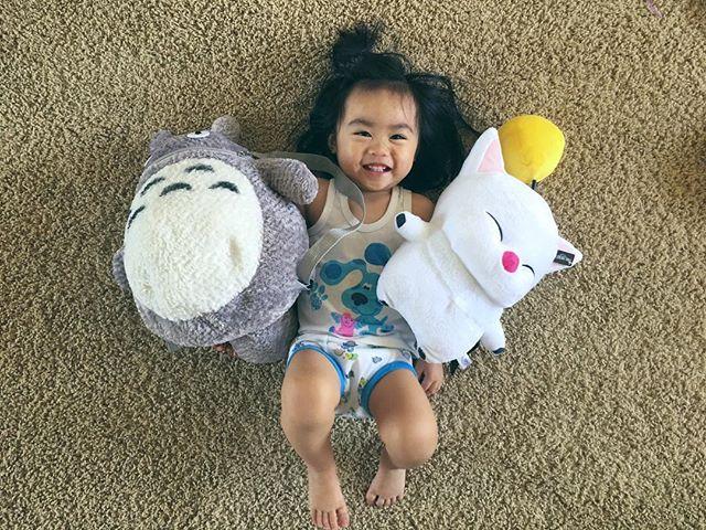 Totoro x Moogle BFFs