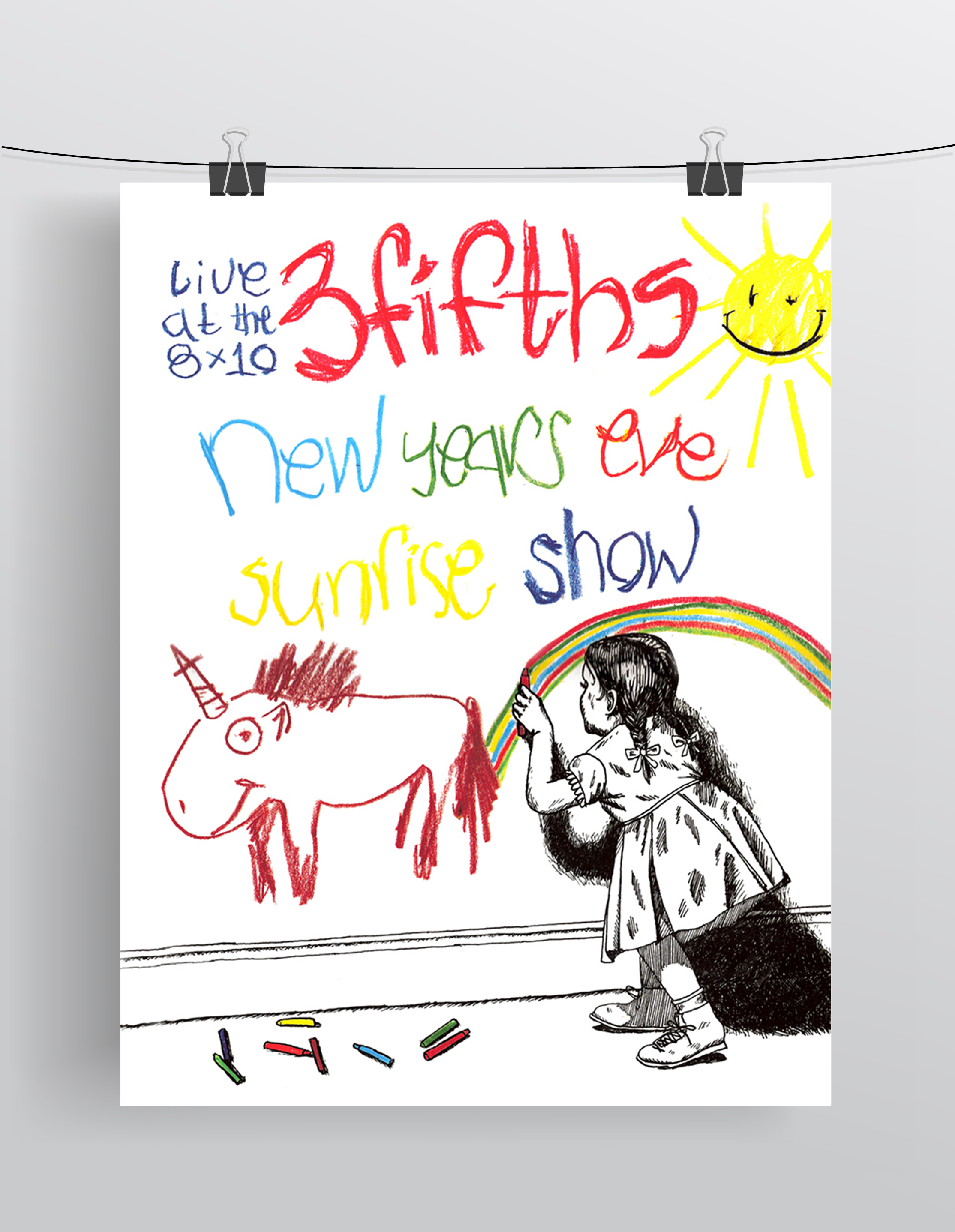 3fifths New Years Eve Sunrise Show  Ink, Crayon