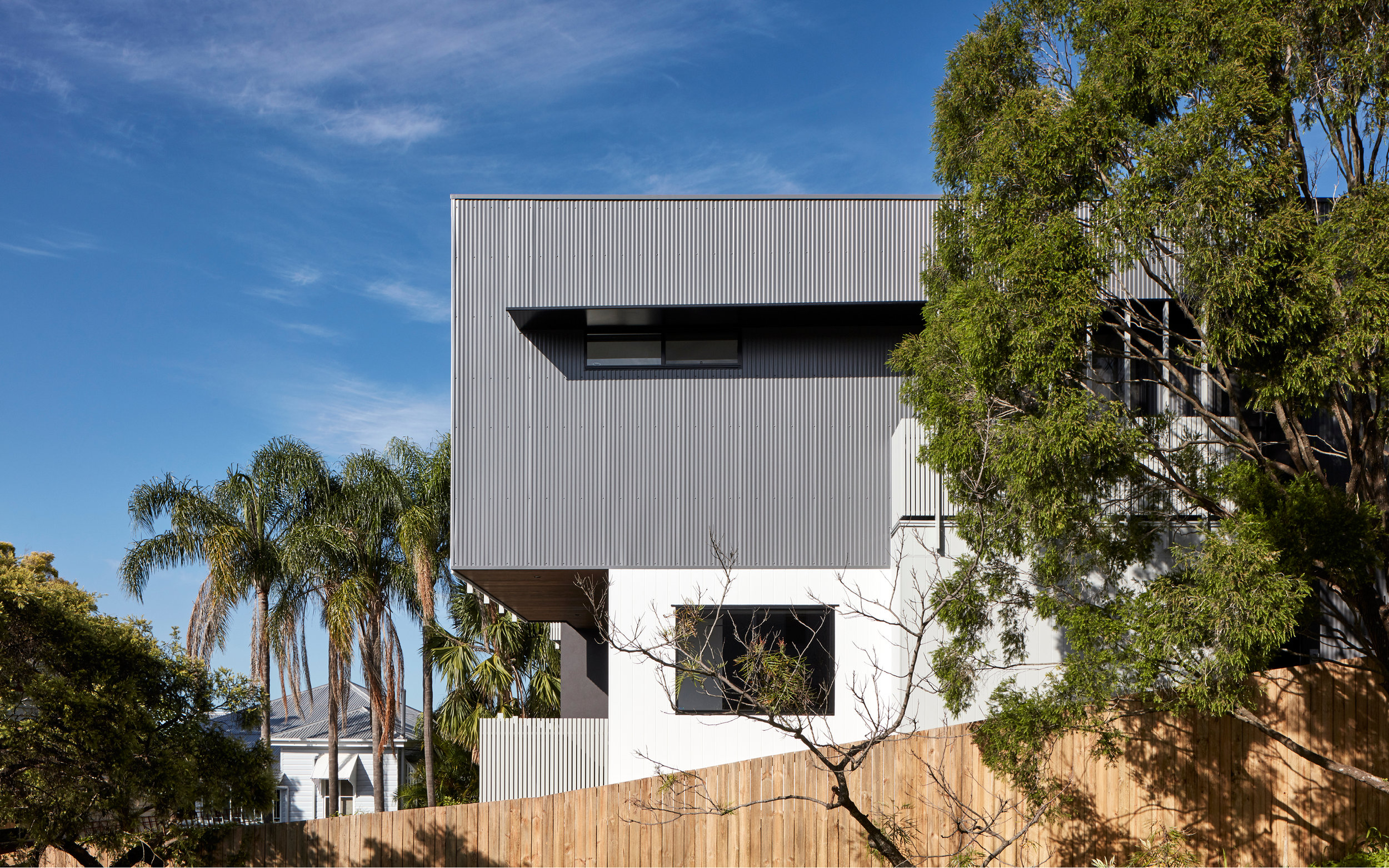 Eastern Facade Windsor Townhouses | Colorbond cladding