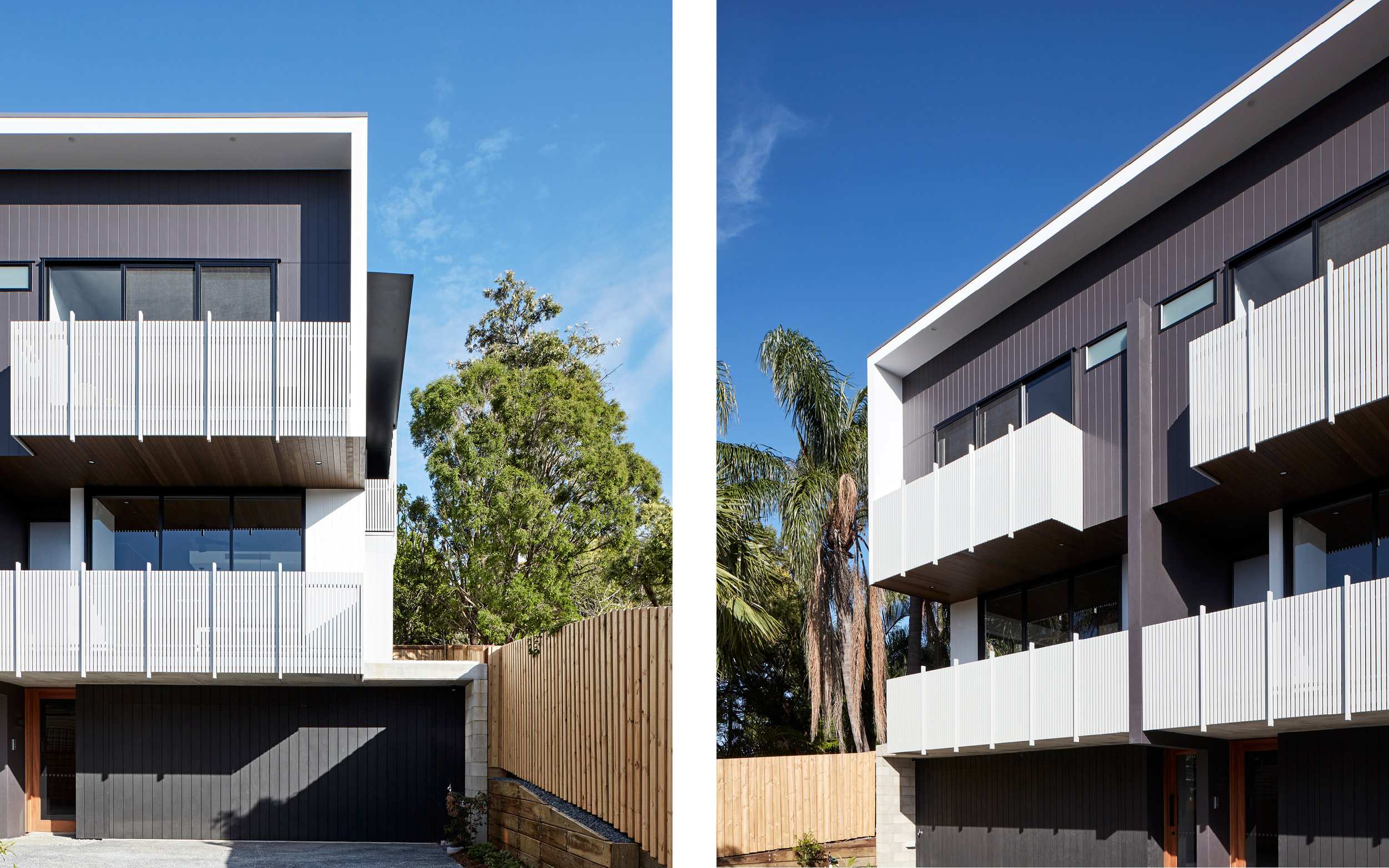 A combination of lightweight cladding and batten balustrades takes reference to the Queensland vernacular