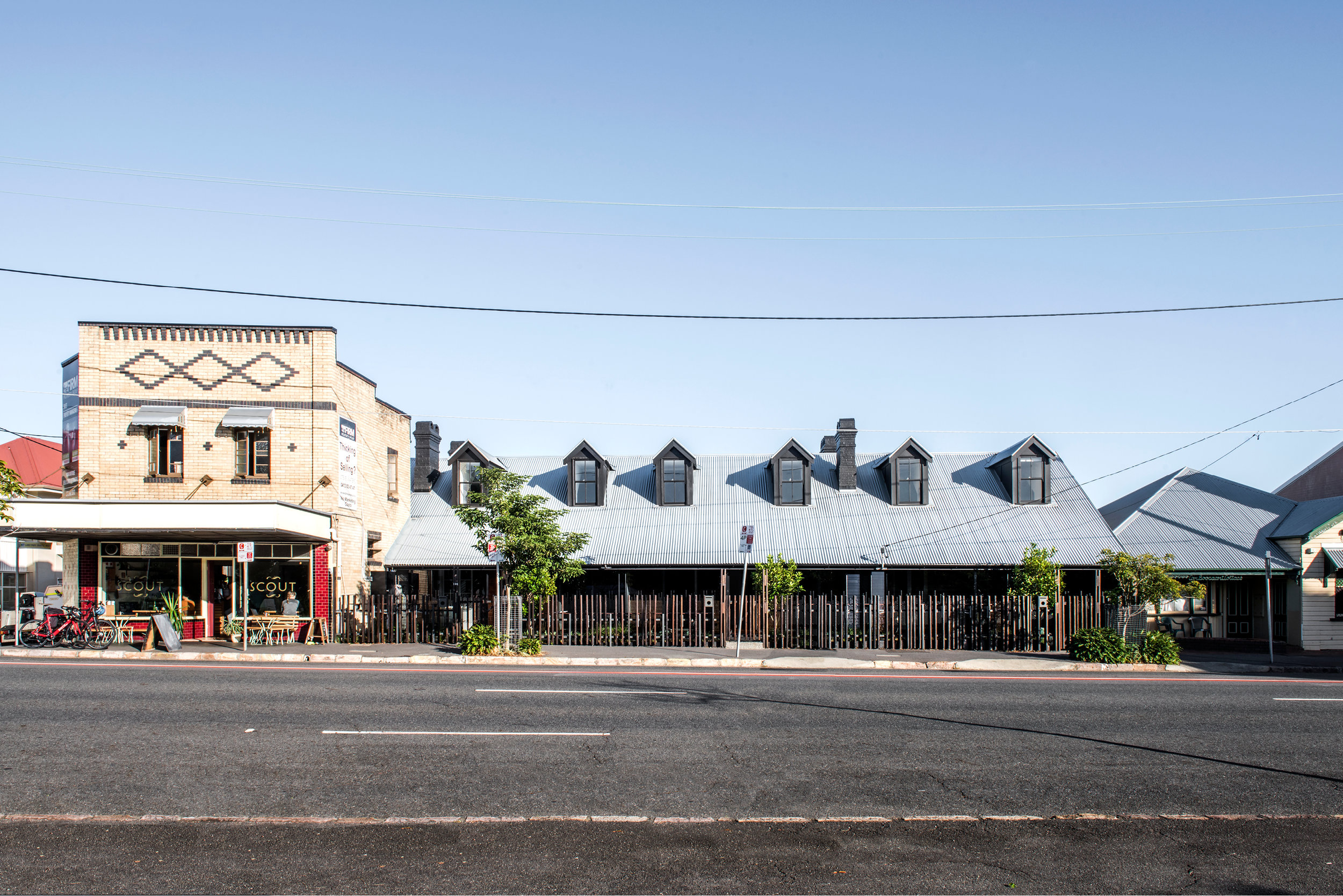 Heritage building ensemble seen from Petrie Terrace