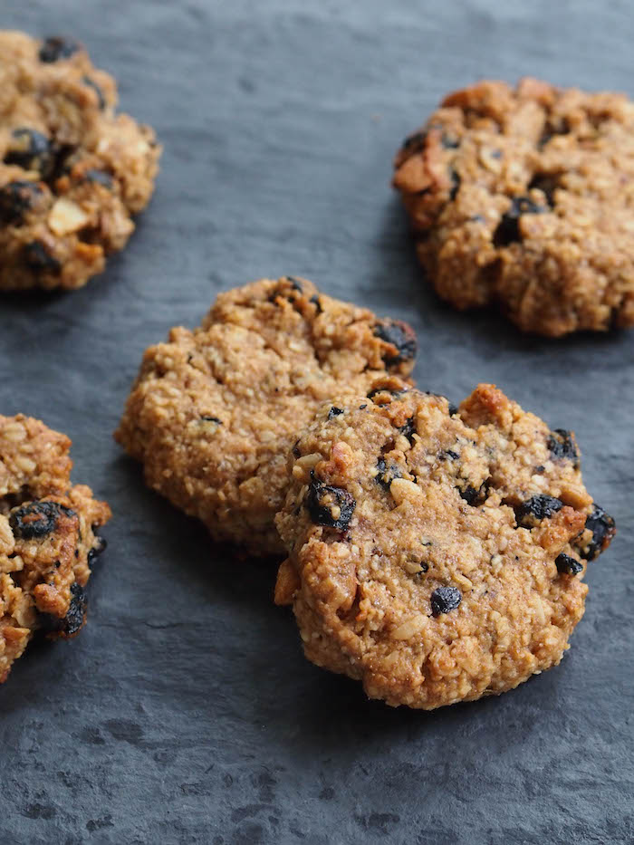 Vegan Almond Blueberry Trail Mix Cookies