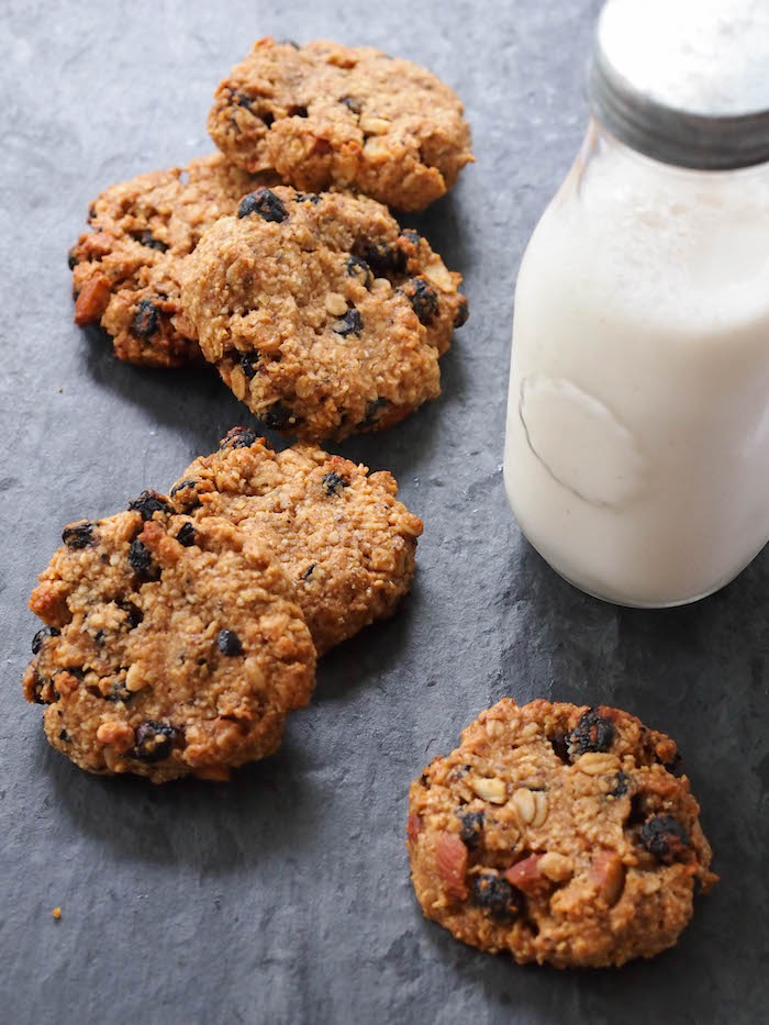 Almond Blueberry Trail Mix Cookies
