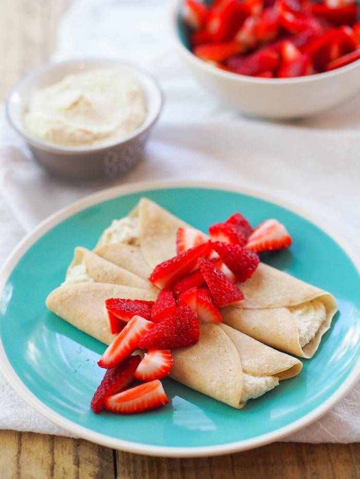给我的草莓奶油奶油布丁!#素食素食####一种素食面包和烤烤面包#